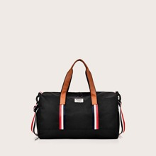 Striped Double Handle Duffle Bag