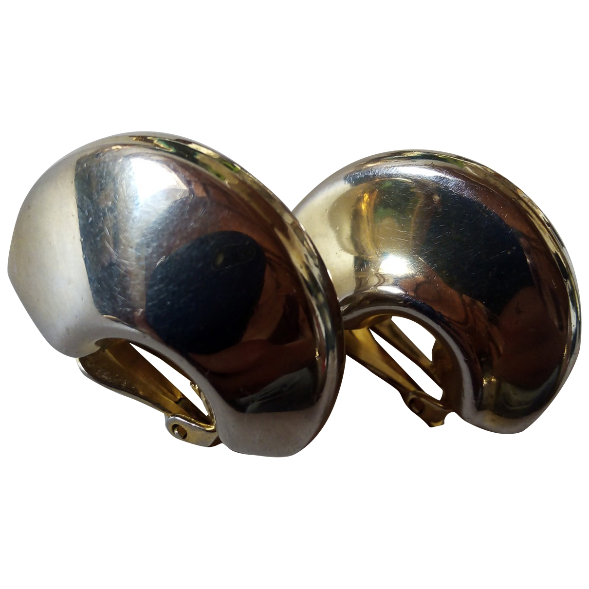 Non Signe / Unsigned Creoles OhrRing in  Gold Metall