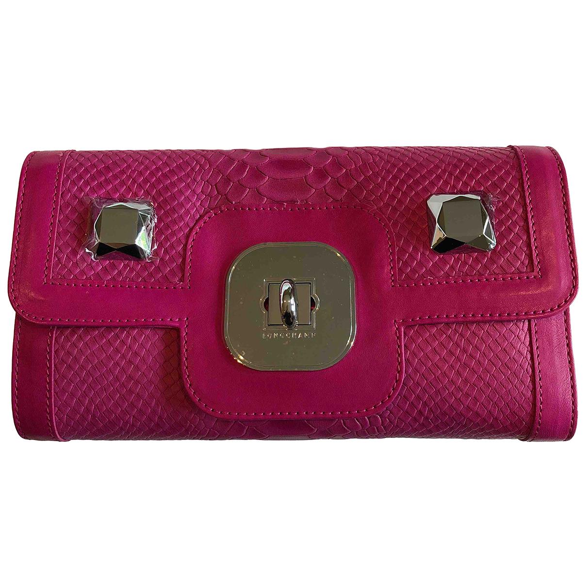 Longchamp \N Clutch in  Rosa Leder