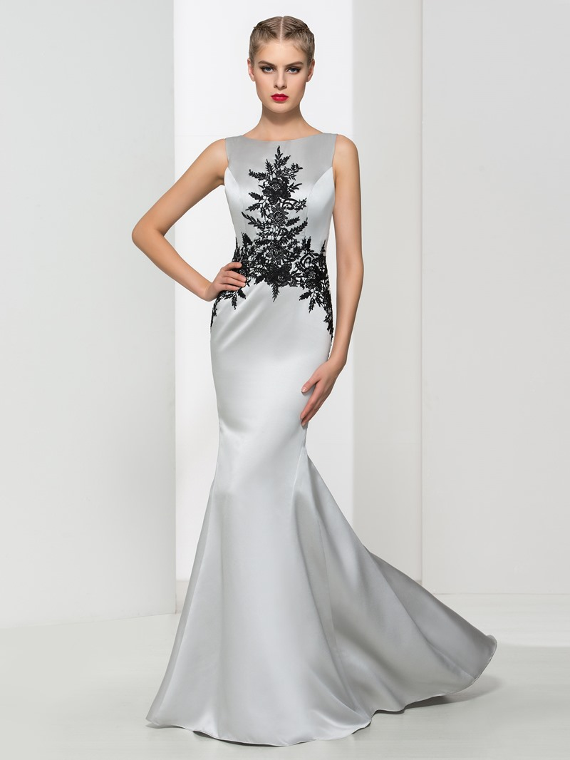 Ericdress V Back Appliques Mermaid Evening Dress