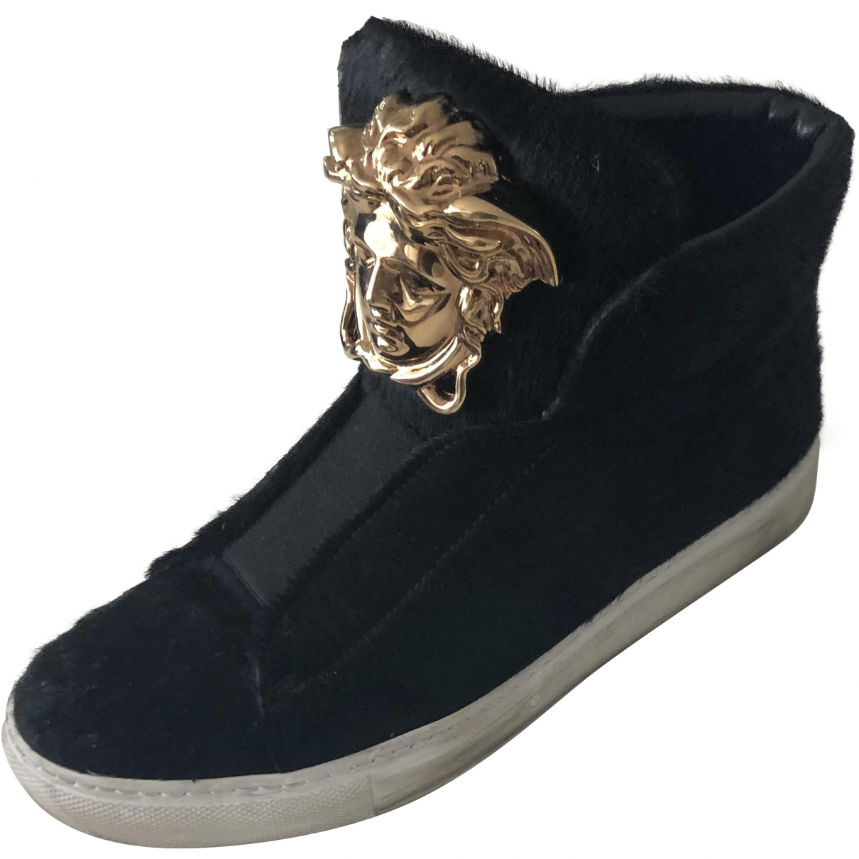 Versace \N Black Pony-style calfskin Trainers for Women 36 EU