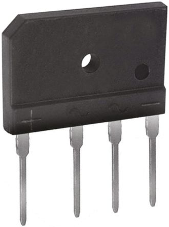 DiodesZetex Diodes Inc GBJ610-F, Bridge Rectifier, 6A 1000V, 4-Pin GBJ (5)