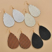 4pairs Woven Textured Drop Earrings