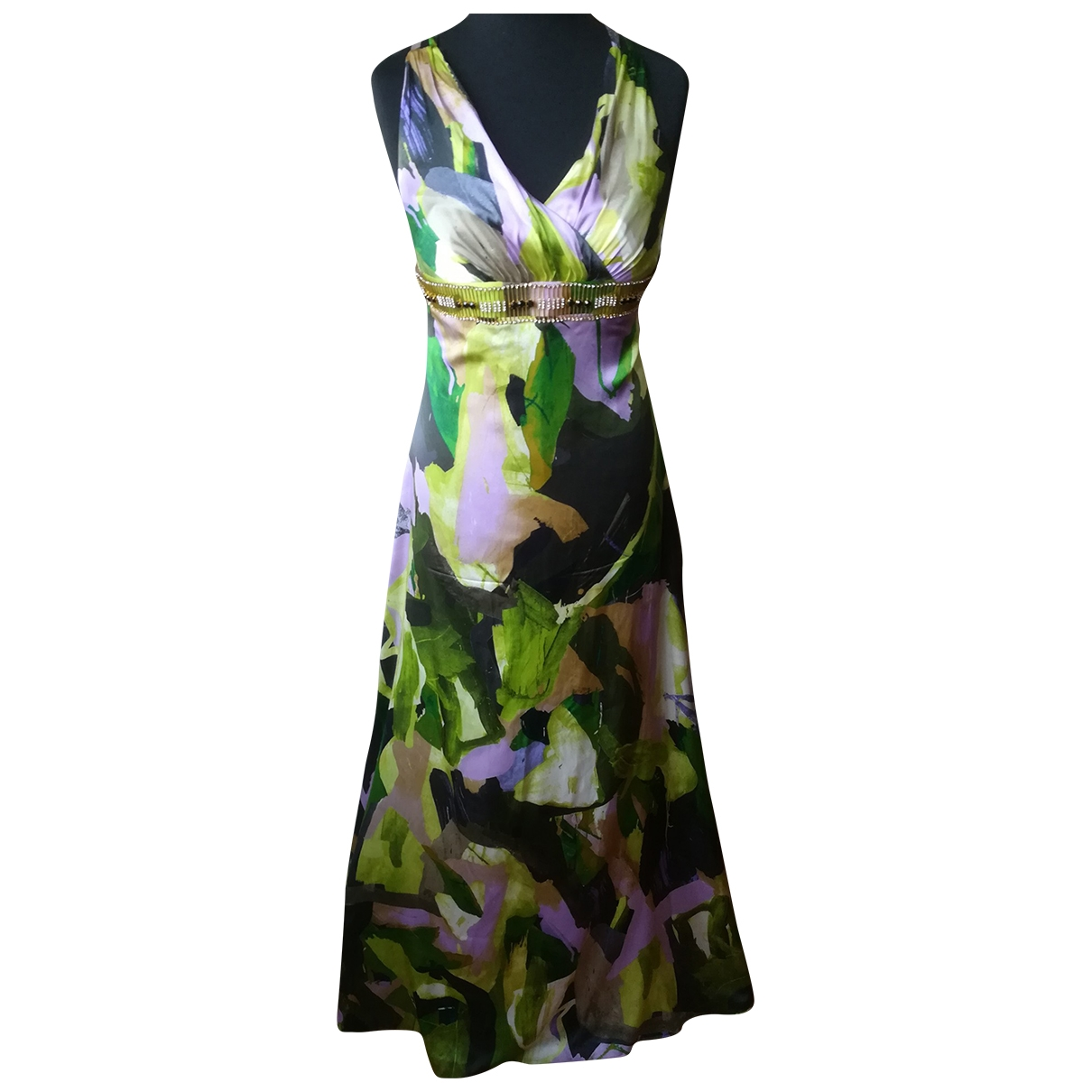 Non Signé / Unsigned \N Silk dress for Women 46 IT