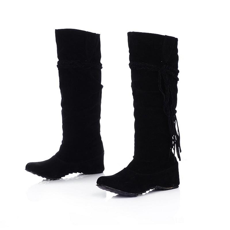 Ericdress Pretty Girl Tassels Knee High Boots