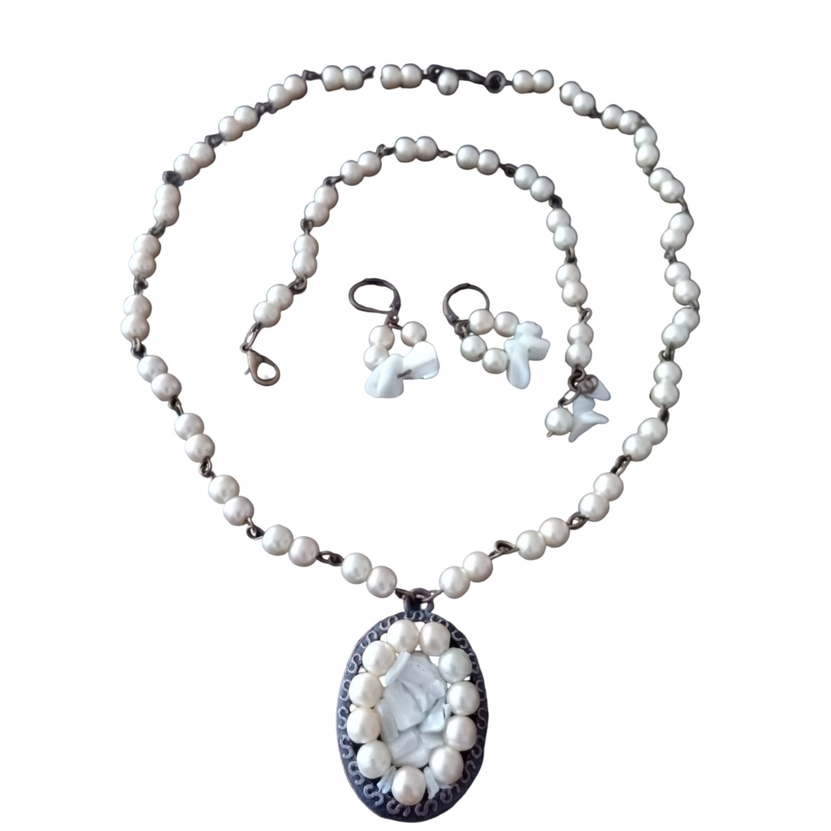 Non Signé / Unsigned \N Pearls Jewellery set for Women \N