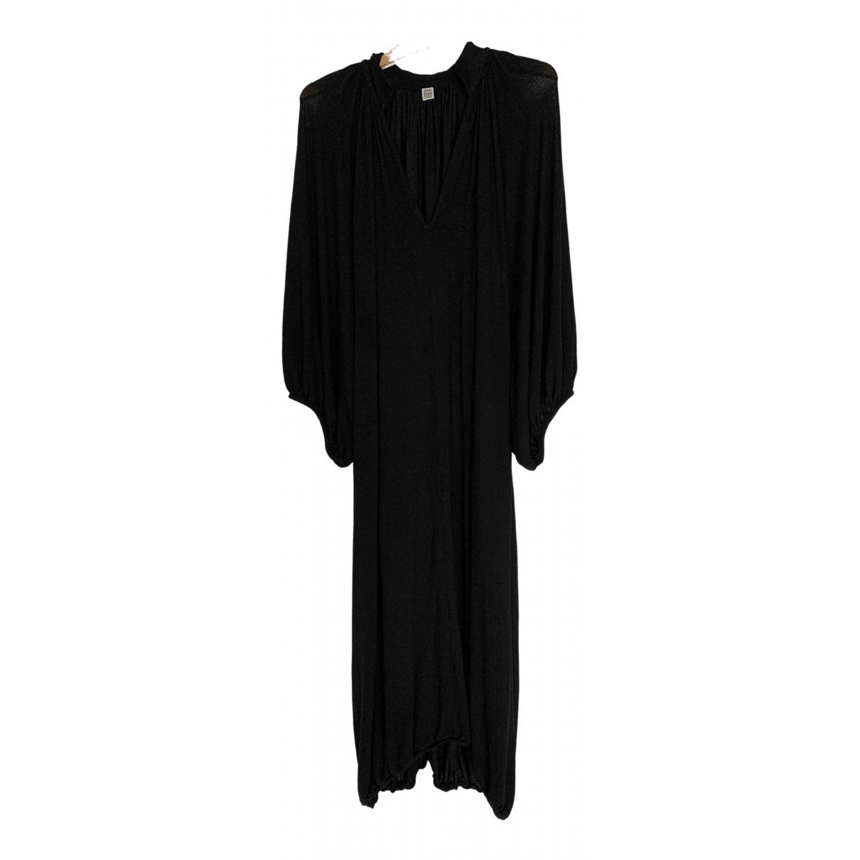 Toteme \N Kleid in  Schwarz Viskose