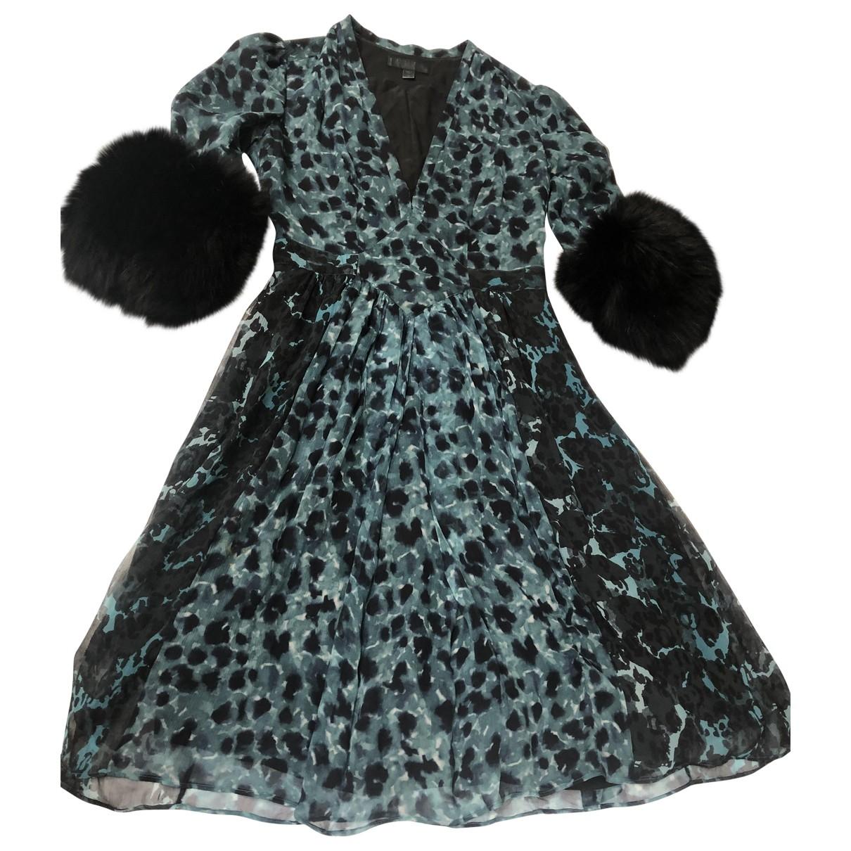 Burberry - Robe   pour femme en fourrure - bleu