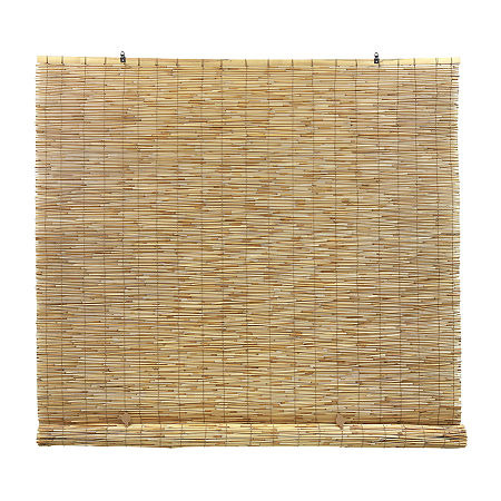 Radiance Cord Free Peeled And Polished Reed Rollup Outdoor Shades, One Size , Brown