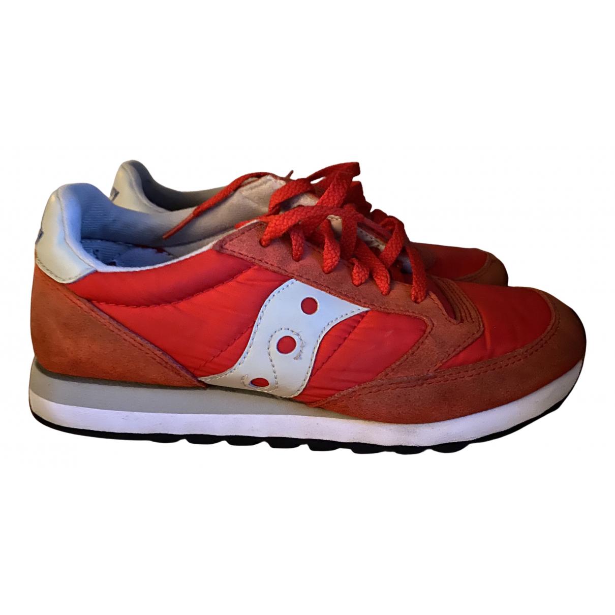 Saucony \N Sneakers in  Rot Veloursleder