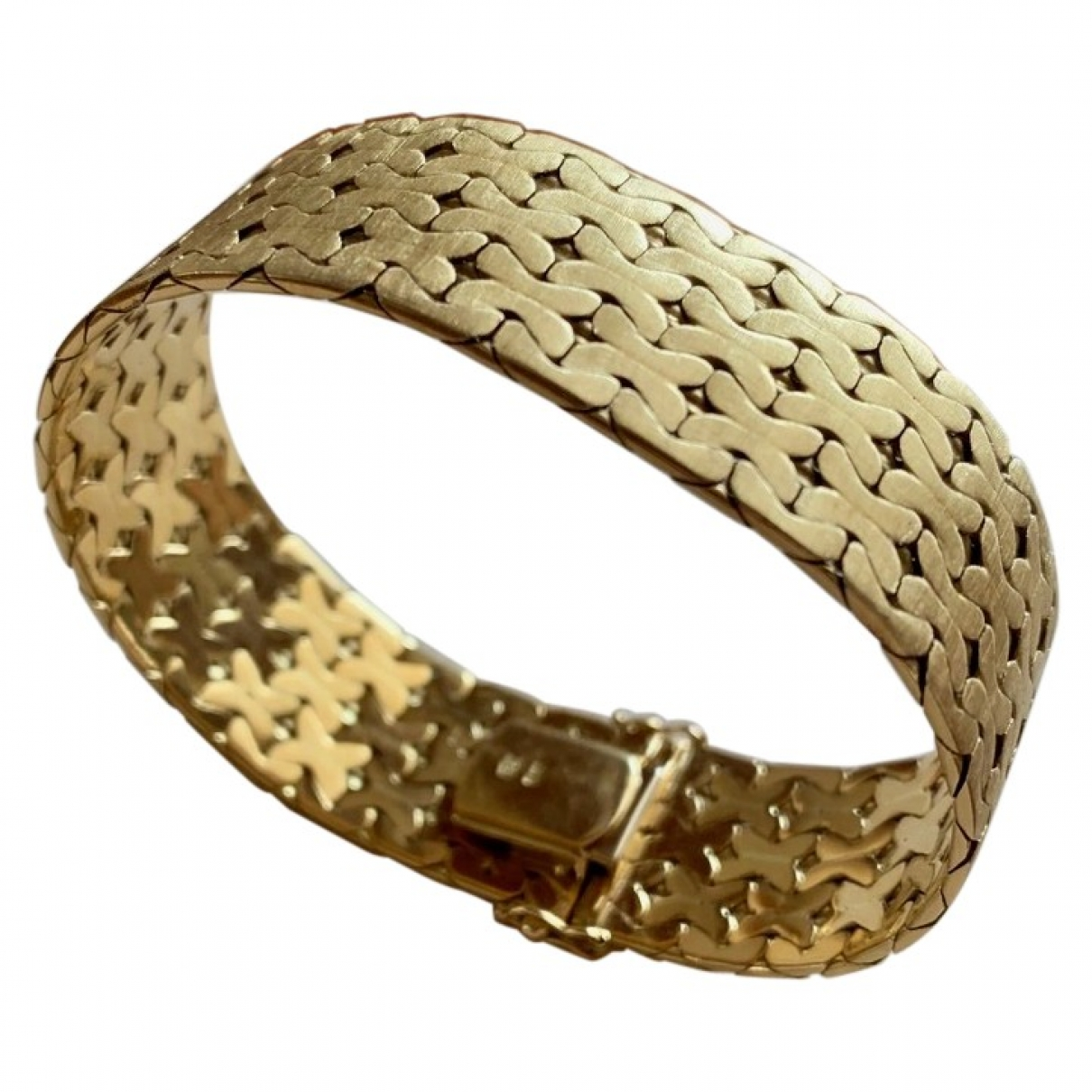 Non Signé / Unsigned Manchette Yellow Yellow gold bracelet for Women \N