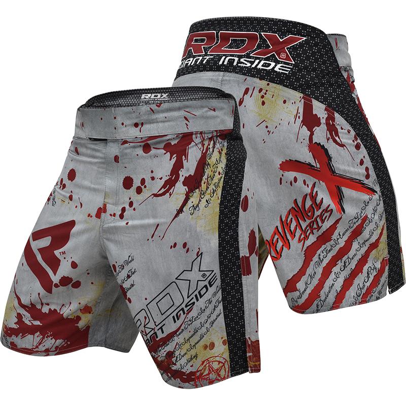 RDX R3 Revenge Series Short de MMA Moyenne blanc Polyester