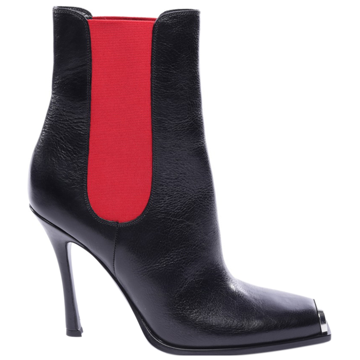 Calvin Klein \N Black Leather Ankle boots for Women 40 EU