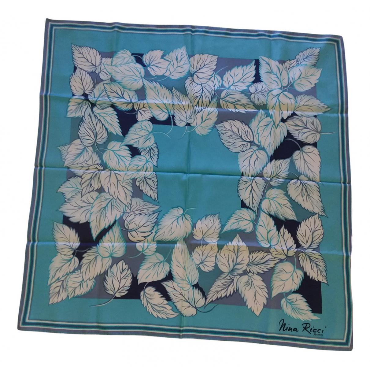 Nina Ricci N Blue Silk scarf for Women N