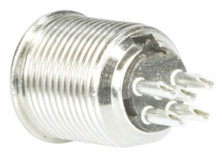 Switchcraft , TB Panel Mount Miniature Connector Plug, 5 Way, 4A, Natural
