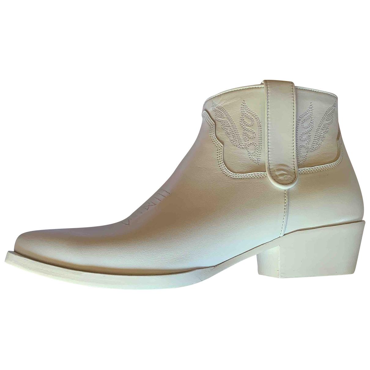 Anine Bing - Bottes   pour femme en cuir - blanc