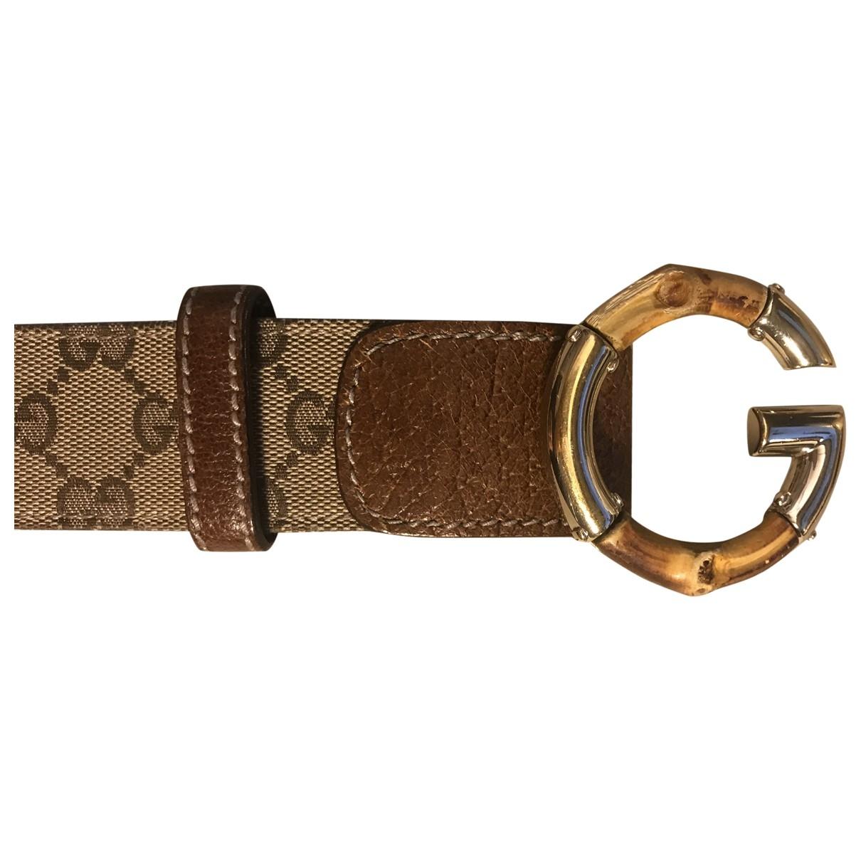 Gucci \N Ecru Leather belt for Women 85 cm