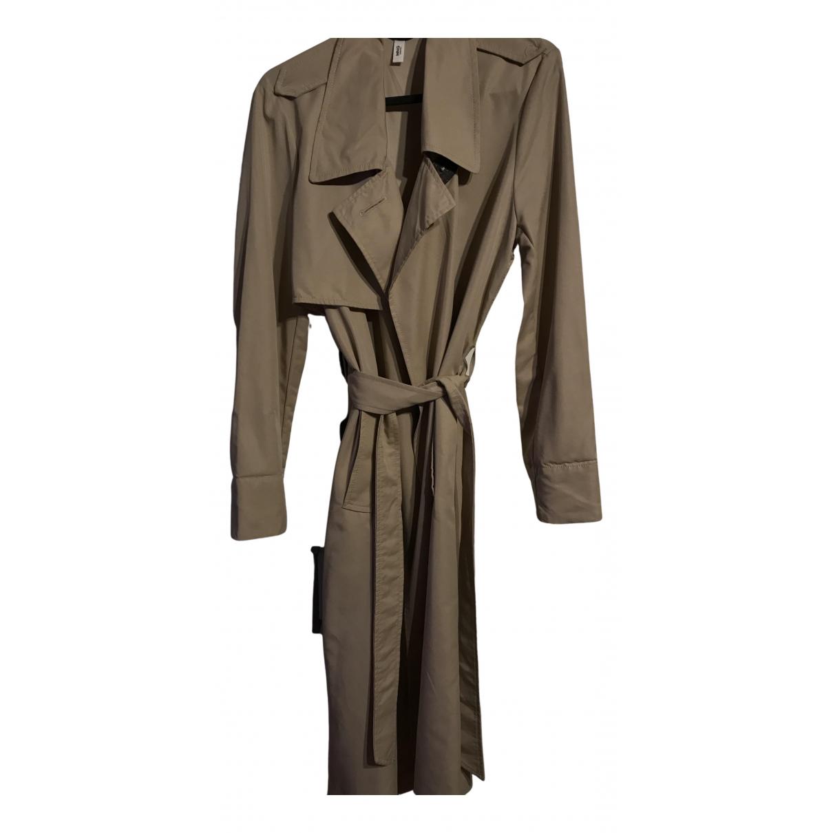 Mango N Beige Cotton Trench coat for Women S International
