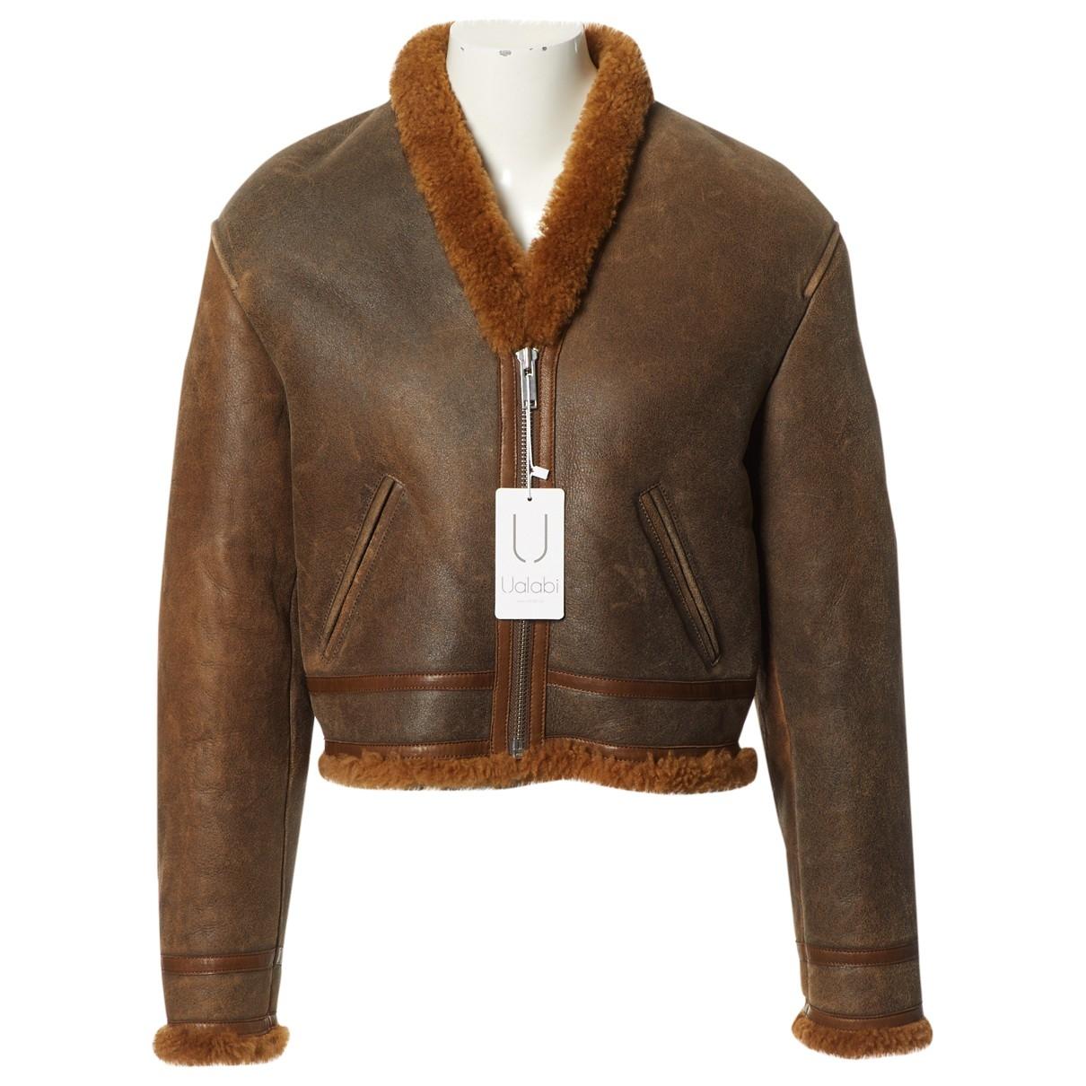 - Veste   pour femme en mouton - marron