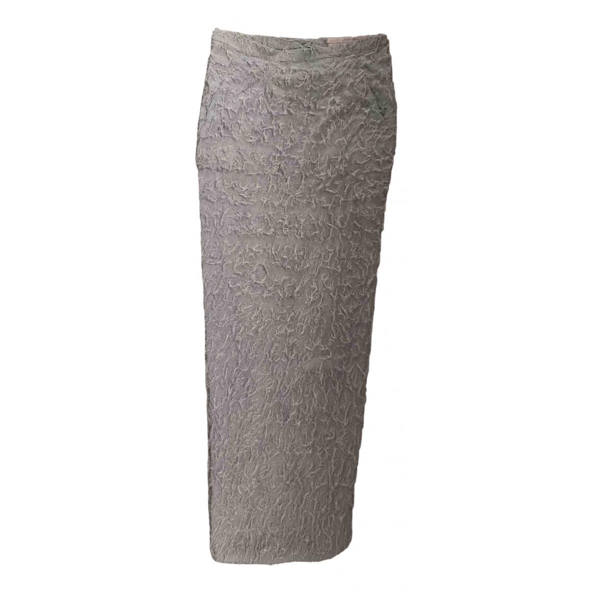 Rick Owens \N Grey Silk skirt for Women 36 FR