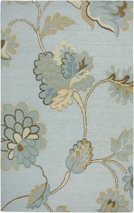 DIMDI161500430305 Dimensions DI1615-3' x 5' Hand-Tufted New Zealand Wool Blend Rug in Light Blue  Rectangle