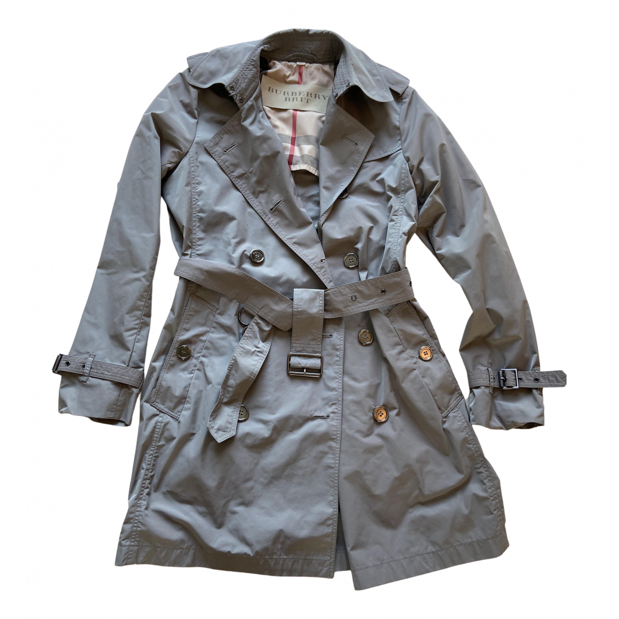 Burberry \N Trench in  Grau Polyester