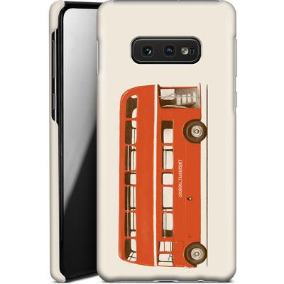 Samsung Galaxy S10e Smartphone Huelle - Red London Bus von Florent Bodart