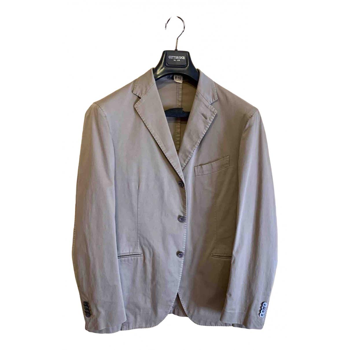 Boglioli \N Beige Cotton jacket  for Men 52 IT