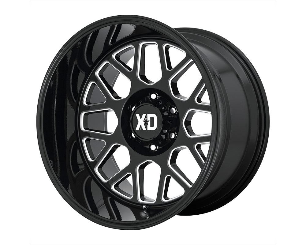XD Series XD84921068318N XD849 Grenade 2 Wheel 20x10 6x6x139.7 -18mm Gloss Black Milled