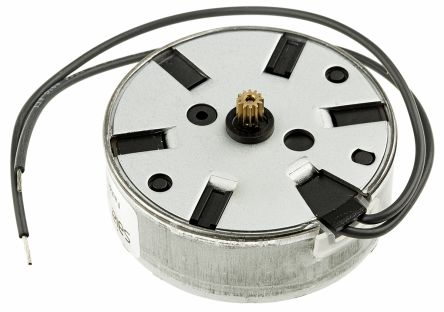 Johnson Electric 53465 Clockwise Synchronous AC Motor, 0.5 W, 1 Phase, 12 Pole, 230 V ac, Clip Mounting