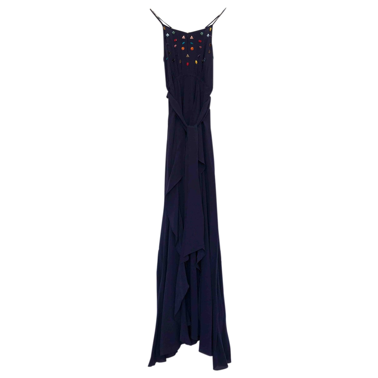 Autre Marque N Blue Silk dress for Women 4 UK