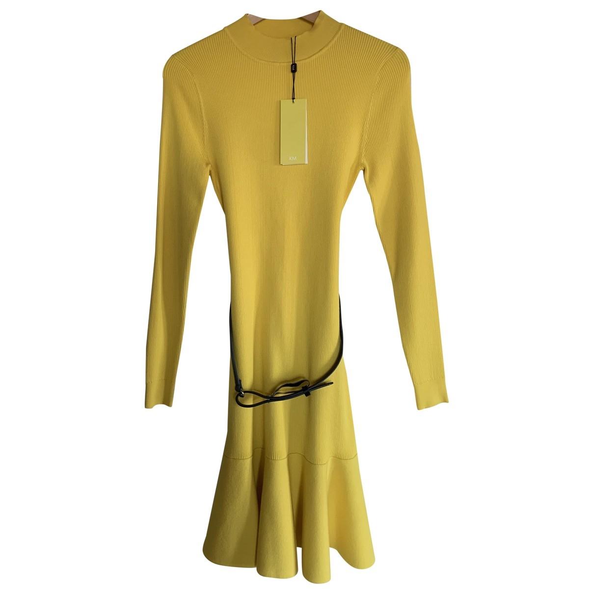 Karen Millen \N Kleid in  Gelb Viskose