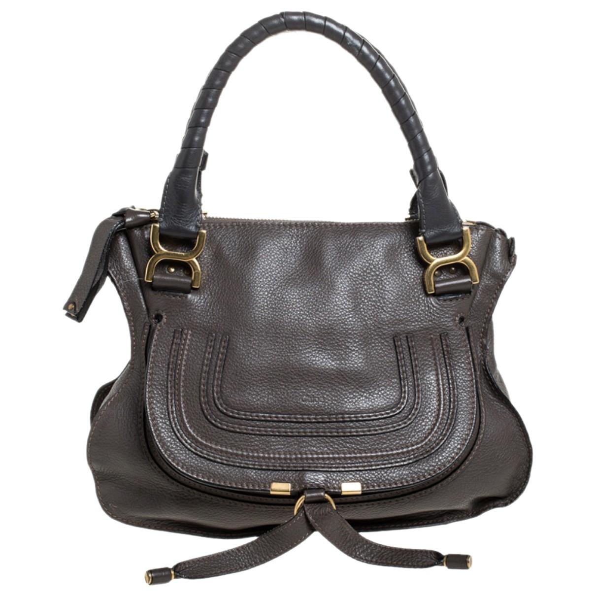 Chloé Marcie Brown Leather handbag for Women \N