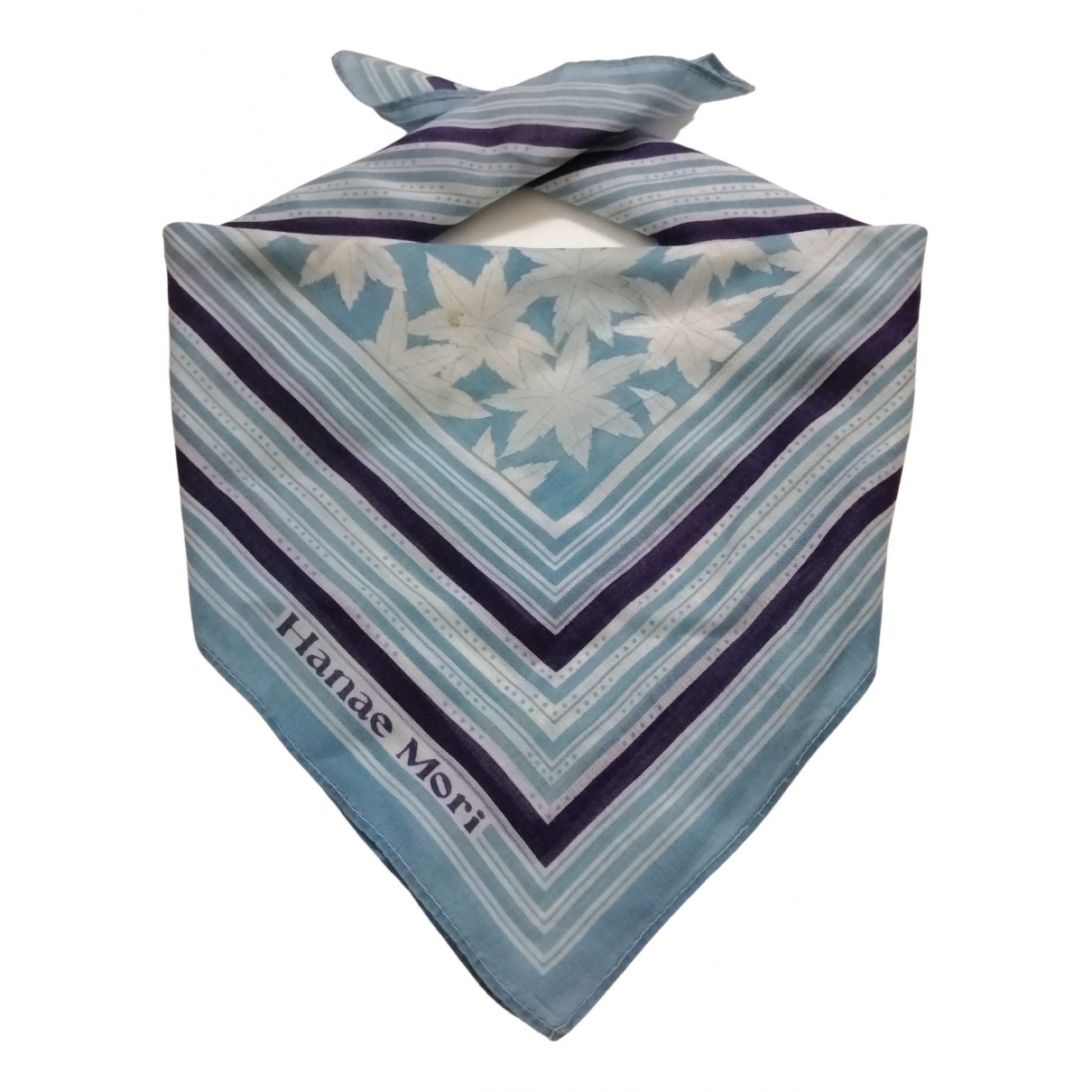 Hanae Mori N White Cotton scarf & pocket squares for Men N