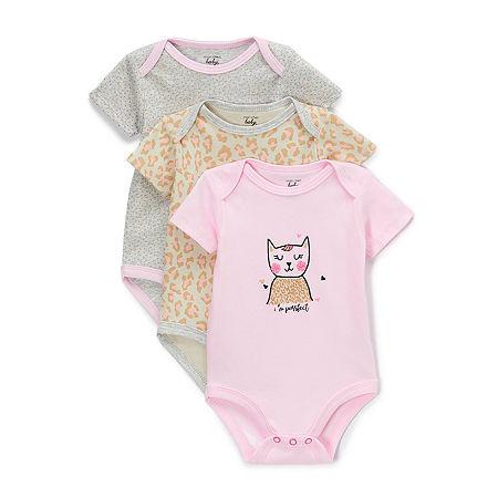 Mon Cheri Baby Girls 3-pc. Bodysuit, Newborn-3 Months , Pink