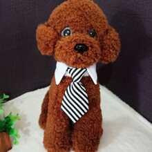 1 Stueck Hund Krawatte mit Streifen