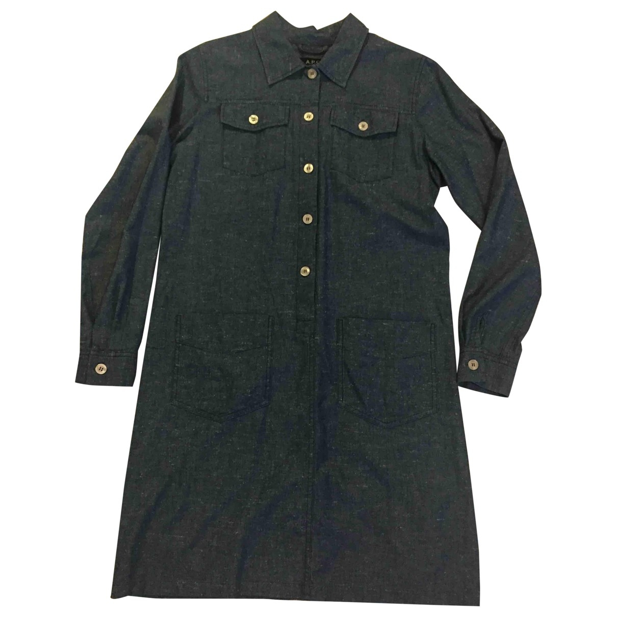 Apc \N Blue Cotton dress for Women 36 FR