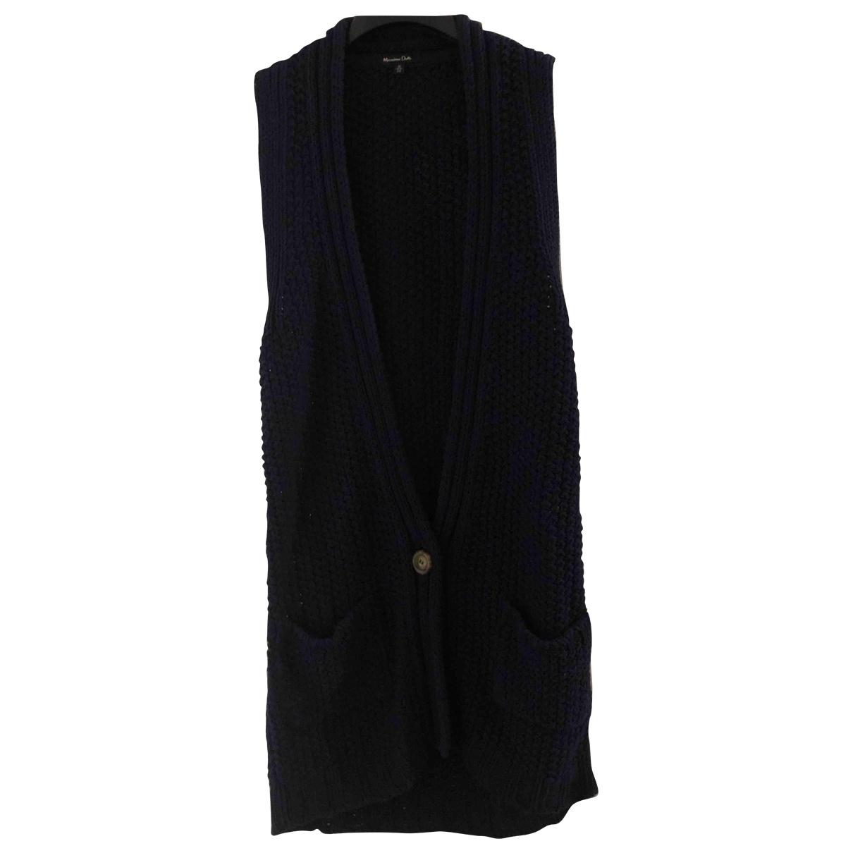 Massimo Dutti \N Pullover in  Blau Baumwolle