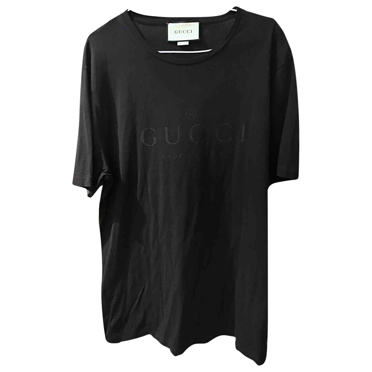 Gucci \N Black Cotton T-shirts for Men XXL International