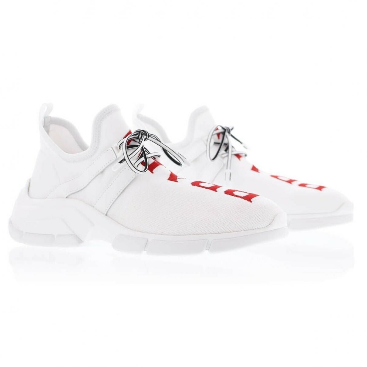 Prada \N White Cloth Trainers for Women 37 EU