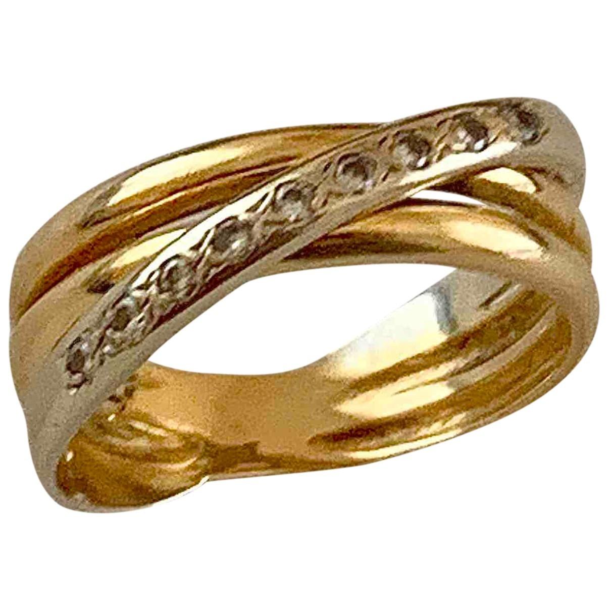 Autre Marque \N Ring in  Gelb Gelbgold