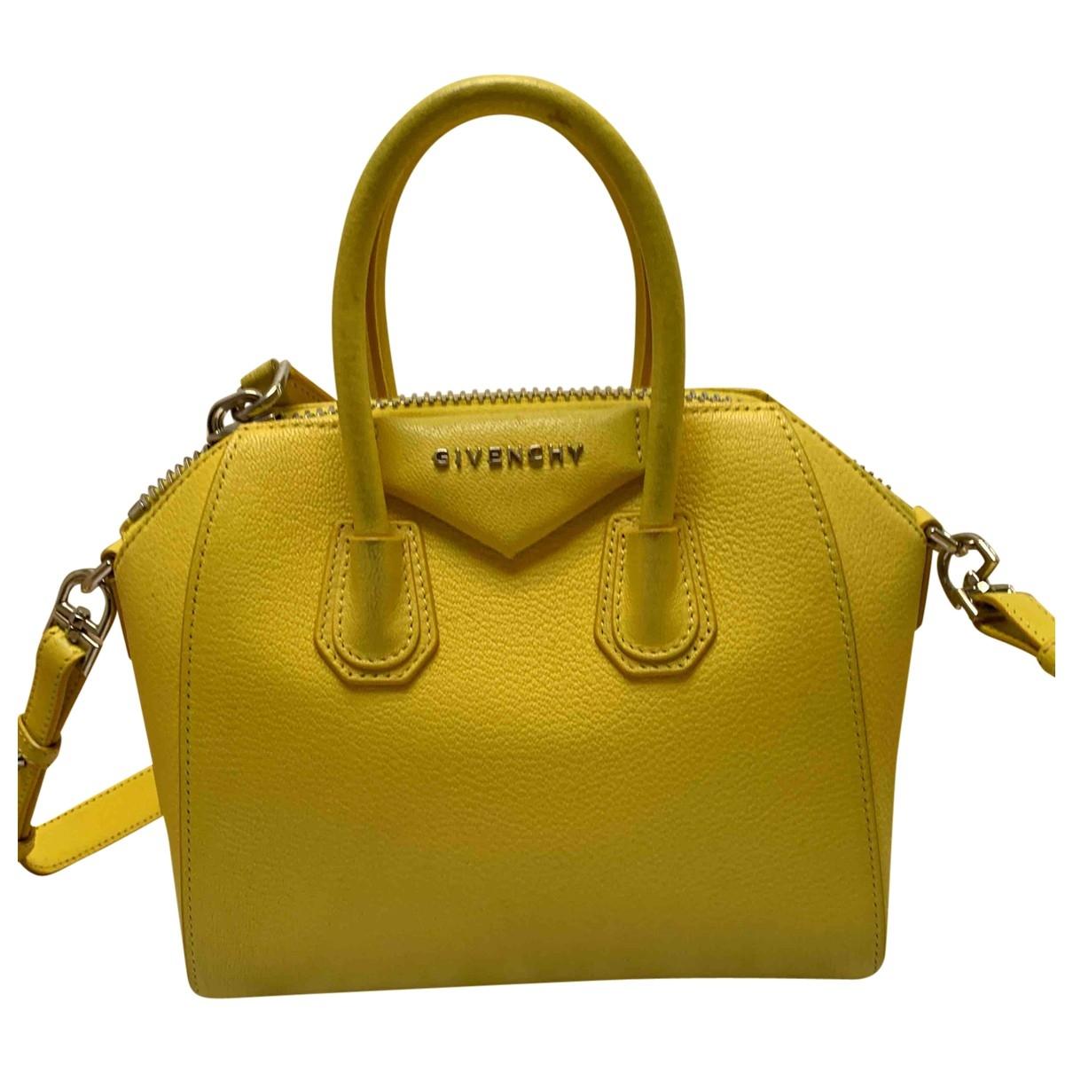 Givenchy Antigona Yellow Leather handbag for Women \N