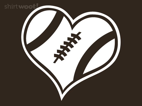 A Heart For Football T Shirt