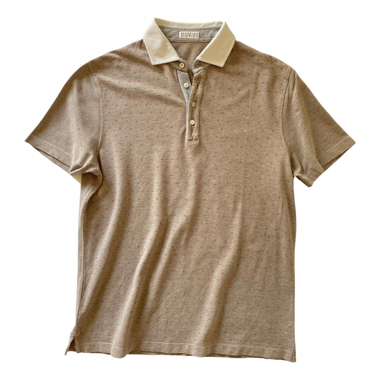 Brunello Cucinelli \N Beige Cotton Polo shirts for Men M International