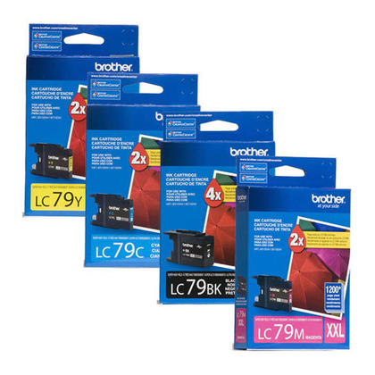 Brother MFC-J6710DW cartouches encre d'origines noire/cyan/magenta/jaune, ensemble de 4 paquet - super haut rendement