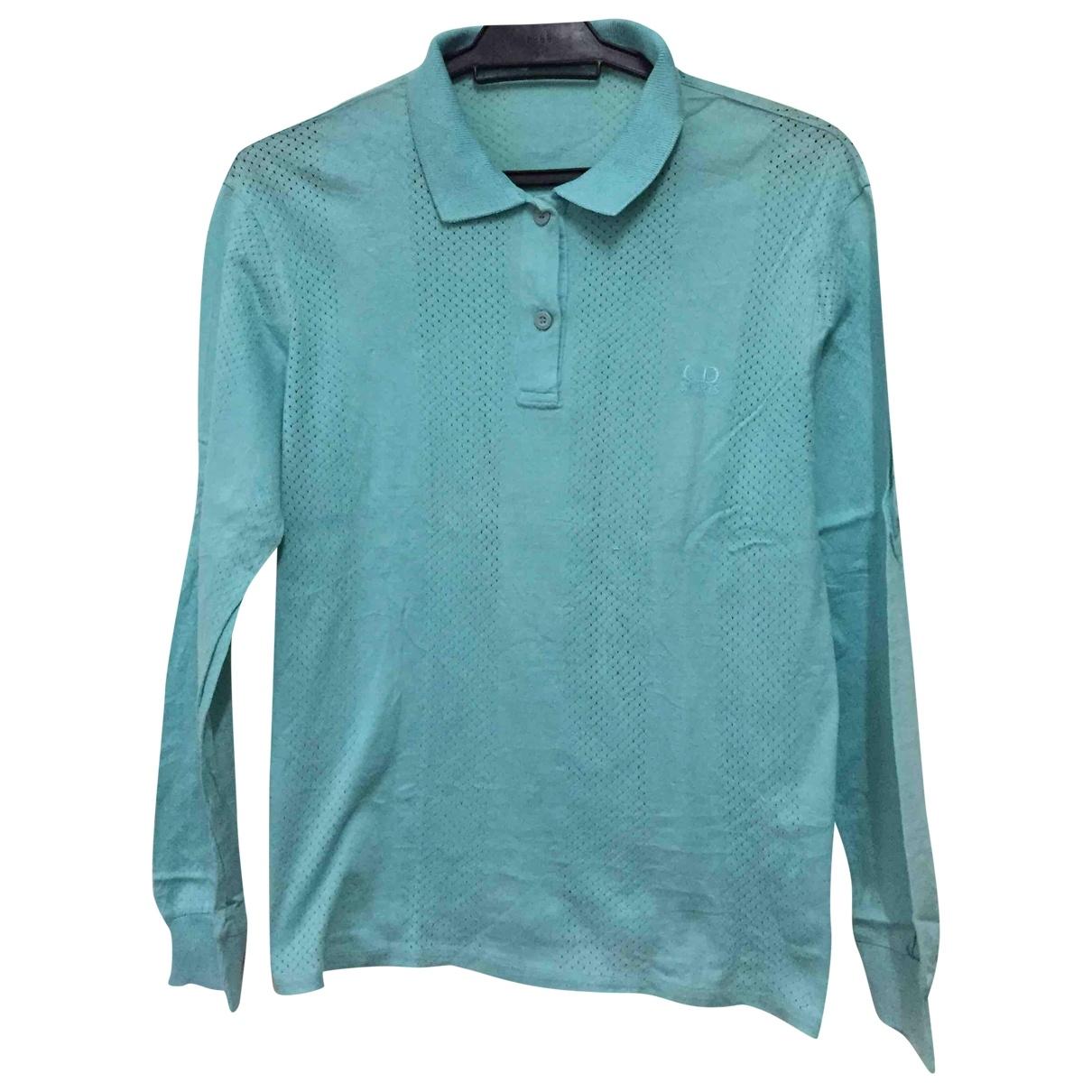 Dior - Polos   pour homme en coton - turquoise