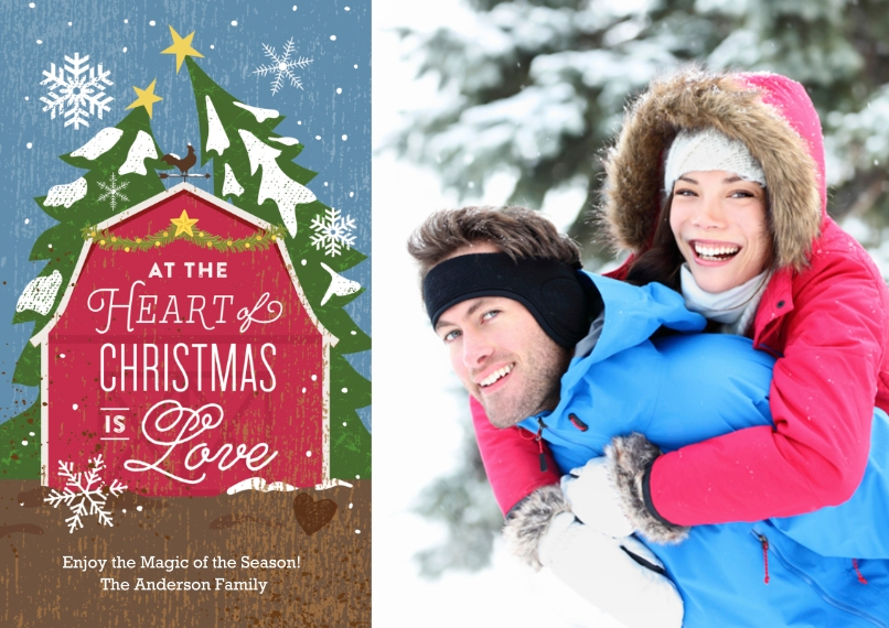 Christmas Photo Cards 5x7 Cards, Premium Cardstock 120lb with Rounded Corners, Card & Stationery -Good Ol' Fashioned Christmas