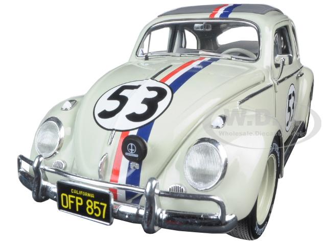 1963 Volkswagen Beetle Herbie Goes to Monte Carlo 53 Elite Edition 1/18 Diecast Model Car by Hotwheels