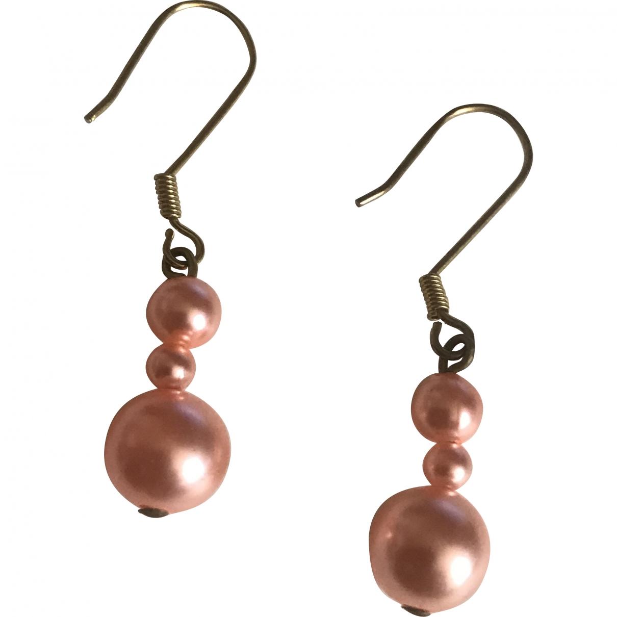 - Boucles doreilles Nacre pour femme en perles - rose