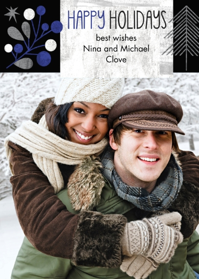 Holiday Photo Cards 5x7 Cards, Premium Cardstock 120lb, Card & Stationery -Nordic Star